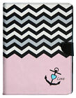 PINK CHEVRON Pattern Leather Flip Card Wallet Stand Case Cover For iPad 2 3 4