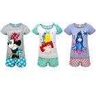 Disney Minnie Mouse Eeyore Little Mermaid Official Gift Ladies Short Pyjamas