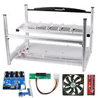 AAAwave 6 GPU Mining Frame + Dual PSU Cables + Fans + 6 PCI-E Version 007