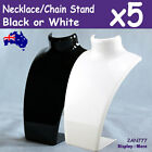 5X Acrylic Necklace Earring Stand-STACKABLE | Black or White | AUSSIE Seller
