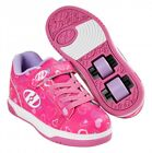 Heelys Dual Up X2 Shoes -Hot Pink / White / Hearts + Free How to DVD
