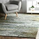 nuLOOM Contemporary Modern Abstract Area Rug in Gray, Blue, Yellow Multi