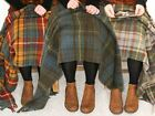 Tweedmill tartan 100% wool knee travel car rug British made small blanket throw