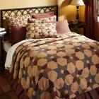 8PC TEA STAR PRIMITIVE CABIN PLAID QUILT SHAMS SKIRT PILLOWS CASES BED SET VHC