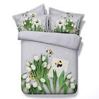 Floral Duvet Doona Quilt Cover Set Bed Super King Single Queen Size Butterfly