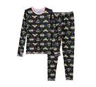 Girls Cuddl Duds DC Comics Batgirl Super Wonder Woman 2 pc Long Underwear S M L