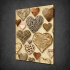 VINTAGE RETRO HEARTS COLLECTION LOVE BOX CANVAS PRINT WALL ART PICTURE