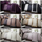 Glamorous & Luxury Embellished Duvet Cover with Sparkly Stripe Pattern