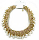 New Faux Pearl Collar Statement Necklace Gift Wedding Jewelry 2Colors Available