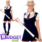 St Trinians School Girl Womens Fancy Dress Uniform Days Adult Womens Costume New