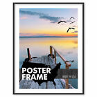 8 x 14 Custom Poster Picture Frame 8x14 - Select Profile, Color, Lens, Backing
