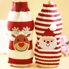 Pet Dog Puppy Christmas Clothes Striped Knit Crochet Sweater Jumper Top Pullover