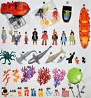 ocean deep sea PLAYMOBIL U CHOOSE SHARK,MERMAID SCUBA DIVER,BOAT,SEAWEED