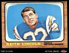 1966 Topps #127 Keith Lincoln Chargers VG/EX $6.75 USD