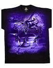 Gothic Horror T Shirt Dragon Swarm new Liquid Blue Mens Black