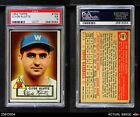 1952 Topps #132 Clyde Kluttz Cream Back Senators PSA 5 - EX
