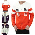 Casual Men's Slim Fit  Color Stitching Collar Baseball Outerwear Coat Jackets