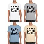 Mens T Shirt MARENO Short Sleeved Personalised I'm The Little Brother Print New