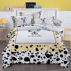 Dog Duvet Doona Quilt Cover Set Queen King Size Bed Covers Flat Sheet Set Animal