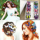 5x Butterfly Hair Clips Bridal Hair Accessories Wedding Photography Costume New