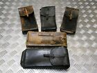 Genuine Vintage Military Issue Long Leather Ammo   Utility Pouch Assorted Colour