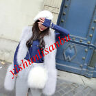 Ladies Faux Furs Vests Stylish Womens Waistcoats Mid Long Cardigan Outwears New