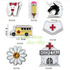 mixed 10pcs Floating Charms Class Living Jewelry Making For Floating Lockets