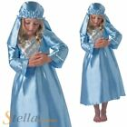 Girls Virgin Mary Costume Christmas Childrens Nativity Play Fancy Dress Outfit