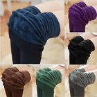 Women Winter Thick Warm Fleece Lined Thermal Stretchy Leggings Pants Short sock