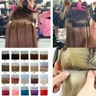 """100% Tape in Straight  Human Hair Extensions 16""""18""""20""""22""""24"""" 30g 40g 50g 60g 70g"""