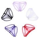 Women's Crotchless Underwear Sheer Hipster See Thru Open Crotch Panties Knickers