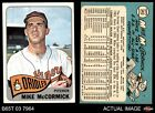 1965 Topps #343 Mike McCormick Orioles EX MT