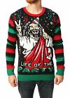 New Mens Ugly Christmas Crew Neck Holiday Pullover Sweater