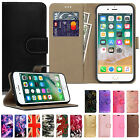 PU Leather Wallet Magnetic Flip Phone Case Cover For Apple iPhone 5 6 7 8 Plus