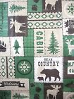 """60"""" Round Bear Moose Lodge Country Cabin Camp Vinyl Tablecloth FREE SHIPPING"""