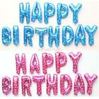 """13Pcs/set 16"""" HAPPY BIRTHDAY Gold Letters Foil Balloons Birthday Party Decors"""