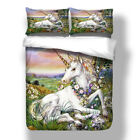 Unicorns Quilt Doona Duvet Covers Set Queen King Size Bedding Set Pillowcase NEW