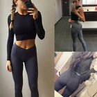 NEW Women Yoga Fitness Leggings Running Gym Stretch Sports Long Pants Trousers