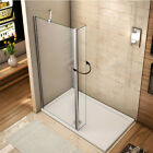 Wet Room Shower Enclosure Screen 8mm NANO Glass Panel B-406-900mm Support Bar