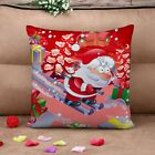 Christmas Xmas Cushion Cover Throw Pillow Case Home Decor Linen Festive Gift New
