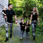 Внешний вид - Family Matching Military Outfits Clothes Set Women Baby Kids T-shirt Tops+Pants