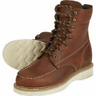 Gravel Gear Mens 8in Moc Toe Wedge Work Boots Brown