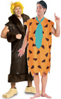 Couples Mens Fred Flintstone AND Barney Rubble TV Film Cartoon Costumes Outfits
