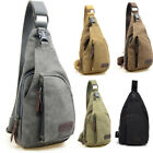 Outdoor Men Canvas One Shoulder Sling Chest Hike Bicycle Bag Unbalance Backpack