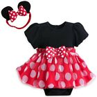 Disney Authentic Minnie Mouse Baby Bodysuit & Headband 3 6 9 12 18 24 Months