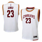 Boys 8-20 LeBron James Cleveland Cavaliers Basketball Jersey WHITE
