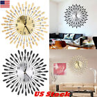 US Large Metal Wall Clock Aluminium Dial Iron Digital Needle Wall Clock Home DIY