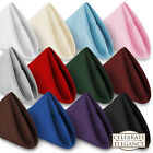 1 Dozen 20' Cloth Dinner Table Napkins for Weddings Polyester Fabric Many Colors