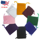 "10 30 PCS Velvet velour Jewelry gift drawstring bag pouch 7x9cm 2.7x3.5"" Black"