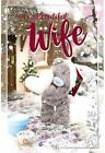 Tatty Teddy Bear Me to You 3d Holographic Christmas Card Mum Dad Sister Daughter